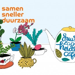 illustratie duurzaamheidscafe