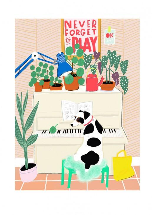 Illustratie Love piano