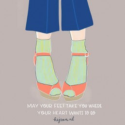 illustratie may your feet take you