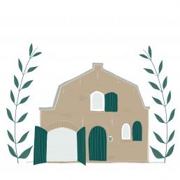 illustratie huis los