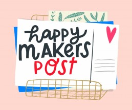Happymakerspost illustratie